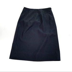 Jil Sander Black Mini Pleated Waist Career Skirt